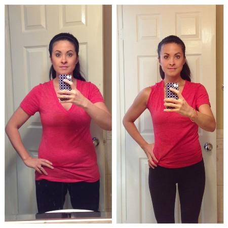 женщина до и после похудения