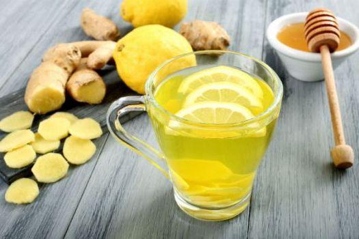 смесь лимона и имбиря