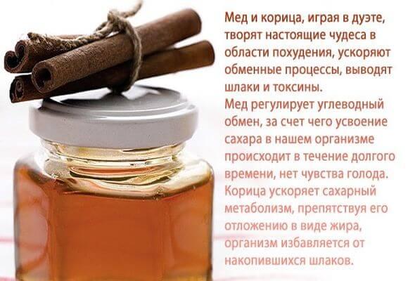 корица с медом в дуэте