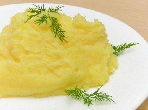 картофельное пюре с уропом