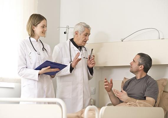 на обследовании легких в больнице
