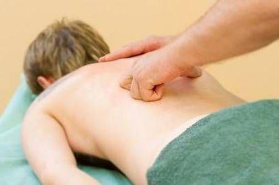 массаж позвоночника