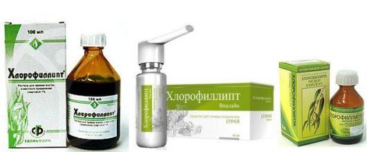 форма выпуска хлорофиллипта
