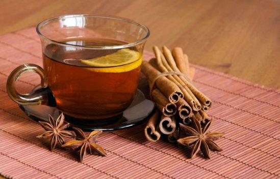 чай с лимоном и корице