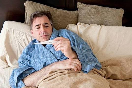 в постели с температурой