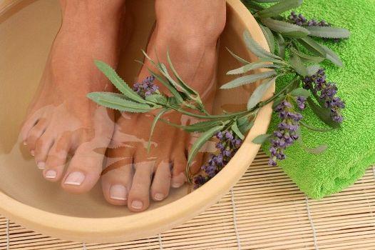 пропарить ноги