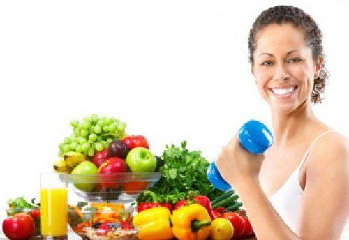 спорт и свежие фрукты
