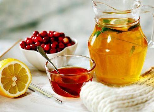 мед рябина и чай