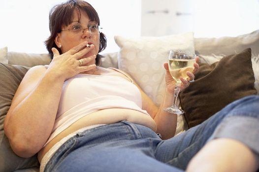 ожирение табак и алкоголь