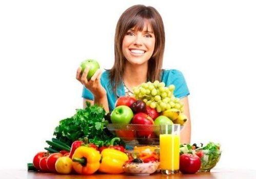 полезные свежие фрукты и овощи