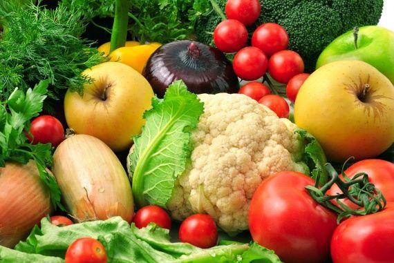ежедневные овощи и фрукты