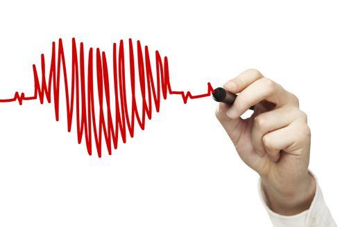 сердце фломастером