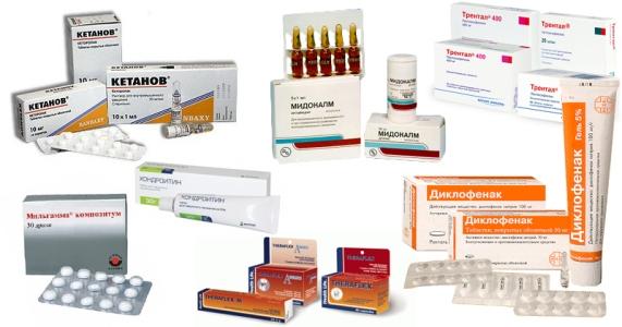 несколько препаратов при остеохондрозе