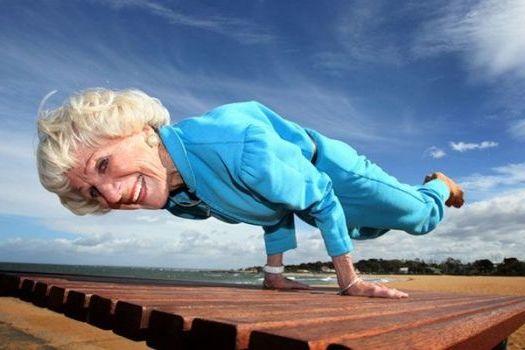 спортивная старушка