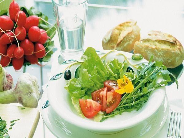 тарелка овощей