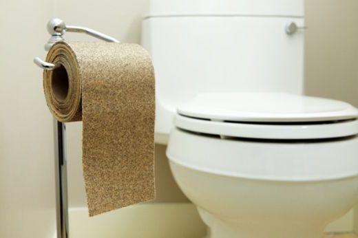 туалет с бумагой