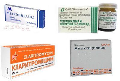 антибактериальные препараты для лечения язвы