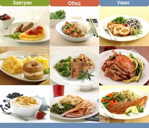 диетический завтрак обед и ужин