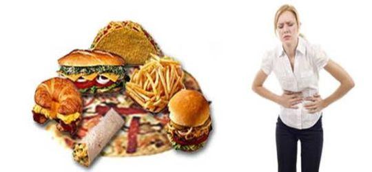 боль в желудке от неправильной еды