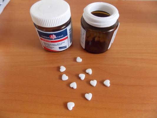 таблетки в виде сердечка